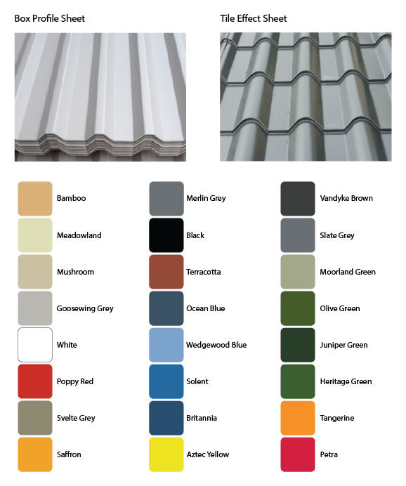 gsg refurb garage roof styles and colours